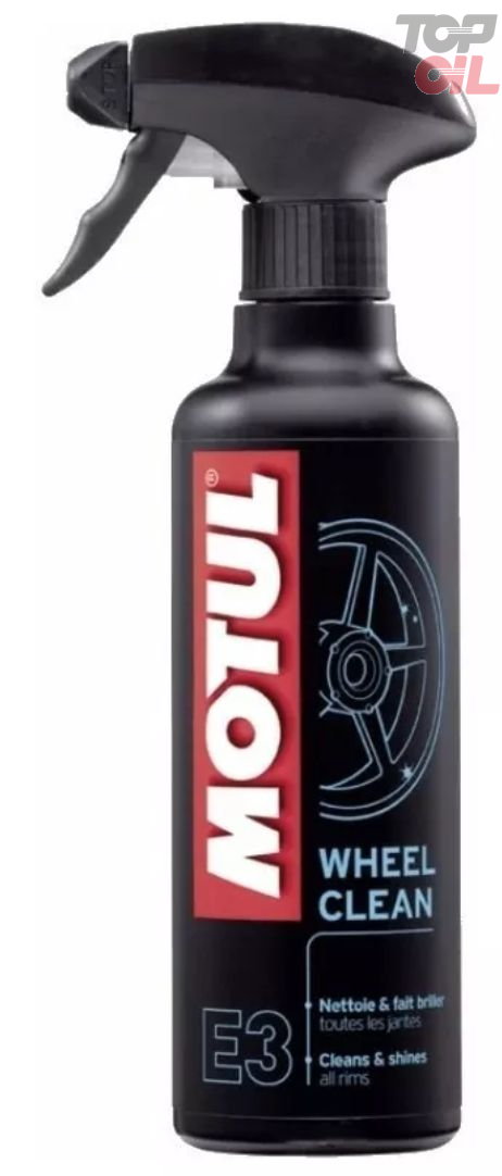 Spray Motul MC CARE E3 WHEEL CLEAN Protege e limpa a roda, desengordura e anticorrosivo 400ml