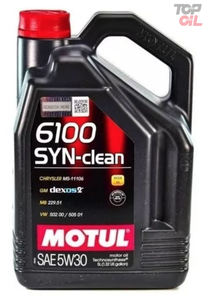 Oleo de motor Motul 6100 SYN-CLEAN 5W30 ACEA C3 Semi Sintetico 5 litros