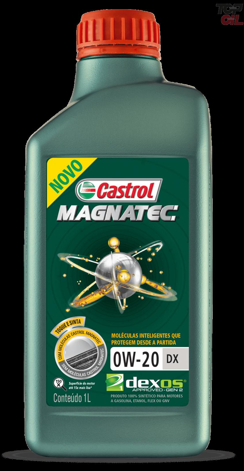 Oleo de motor Castrol MAGNATEC 0W20 Sintetico DX SP 1L