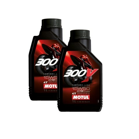 Kit Motul 300V FL ROAD RACING 15W50 c/2unids