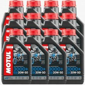 Kit de Oleo de Motor Motul 3000 20w50 com 12 unidades