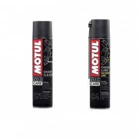 Kit Mc Care com C1 CHAIN CLEAN E C4 CHAIN LUBE